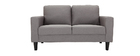Canapé design tissu gris 2 places HAMAR