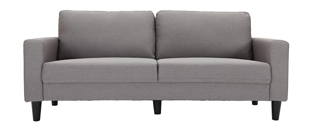 Canapé design tissu gris 3 places HAMAR