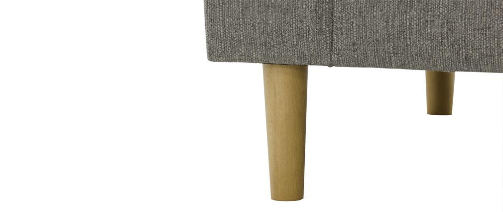 Canapé design tissu gris clair 3 places FRANN