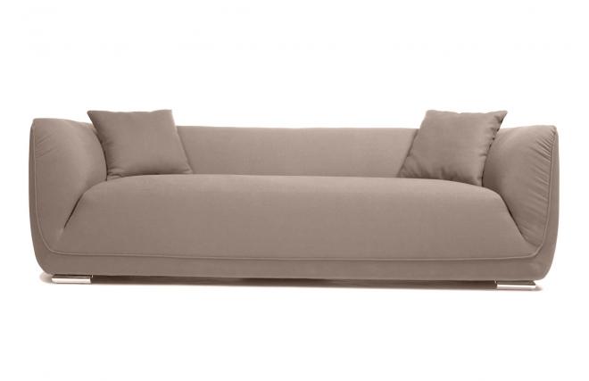 canap design trois places coton et lin taupe alvin miliboo. Black Bedroom Furniture Sets. Home Design Ideas