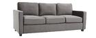 Canapé design velours gris foncé 3 places BROOKLYN