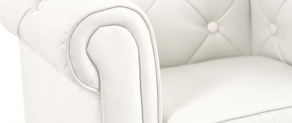 Canapé enfant 2 places blanc -  BABY CHESTERFIELD