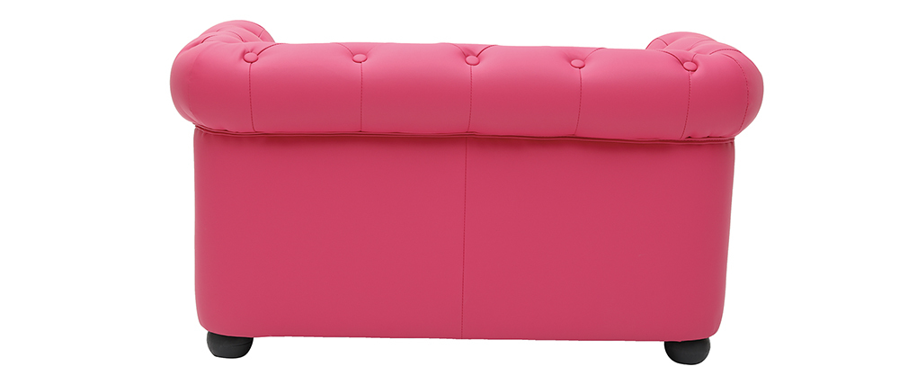 Canapé enfant 2 places rose  -  BABY CHESTERFIELD