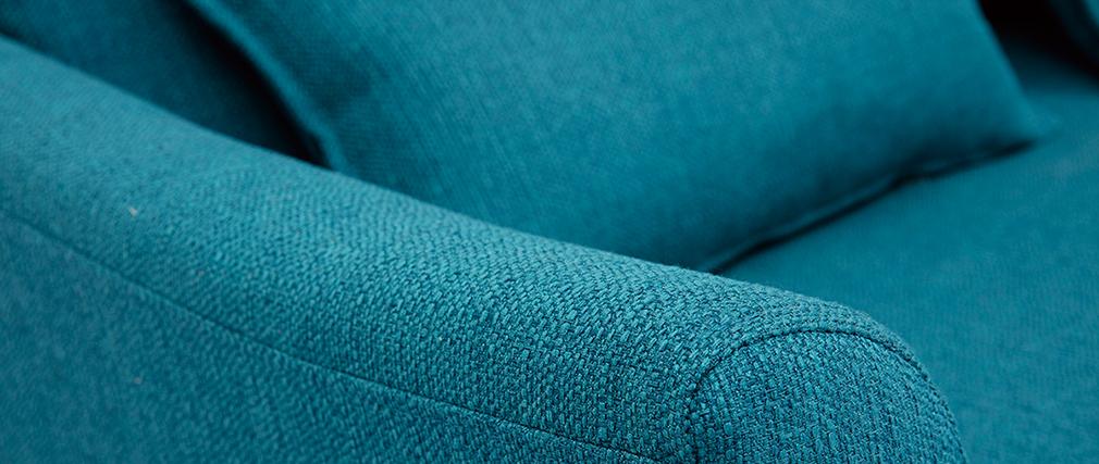 Canapé scandinave 2 places bleu canard KATE