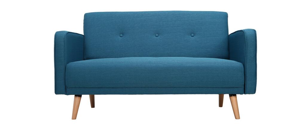 canap scandinave 2 places bleu ulla miliboo. Black Bedroom Furniture Sets. Home Design Ideas