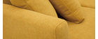 Canapé scandinave 2 places déhoussable effet velours moutarde OSLO