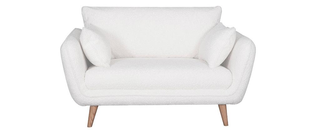 Canapé scandinave 2 places effet laine bouclée CREEP