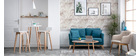Canapé scandinave 2 places gris foncé déhoussable et pieds bois clair OSLO