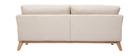 Canapé scandinave 3 places déhoussable beige et pieds bois OSLO