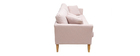 Canapé scandinave 3 places déhoussable rose OSLO