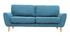 Canapé scandinave 3 places en tissu bleu canard ALICE