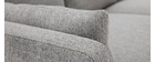 Canapé scandinave 3 places en tissu gris clair THIOU