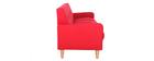 Canapé scandinave 3 places en tissu rouge LUNA