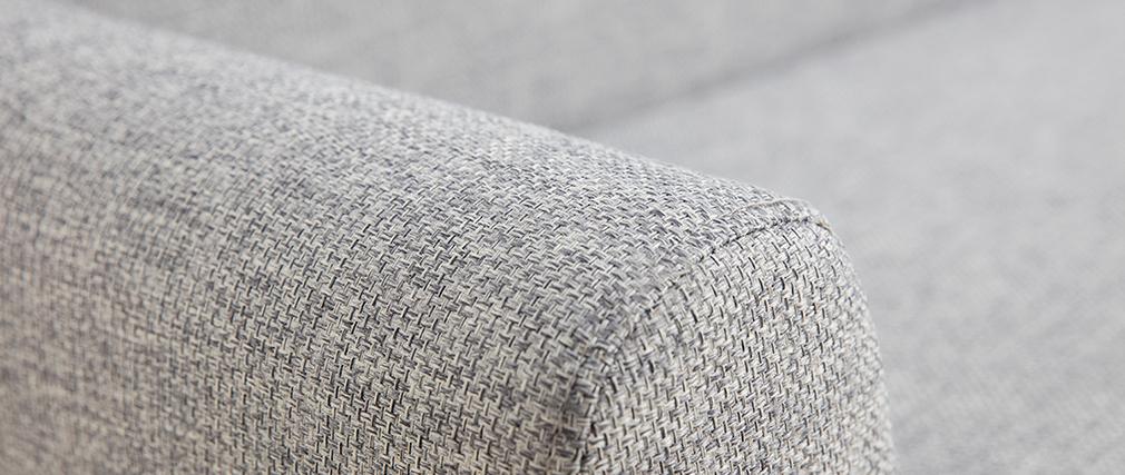 Canapé scandinave 3 places gris clair et bois PURE