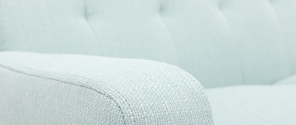 Canapé scandinave 3 places tissu menthe à l
