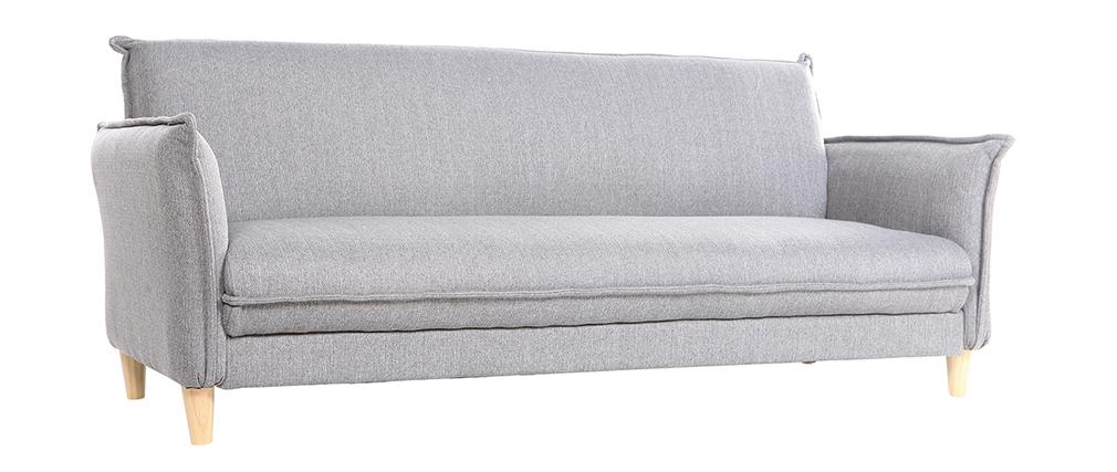 Canapé scandinave convertible tissu gris WEEKEND