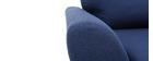 Canapé scandinave tissu bleu foncé 3 places ALICE