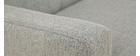 Canapé tissu gris 2 places MOON