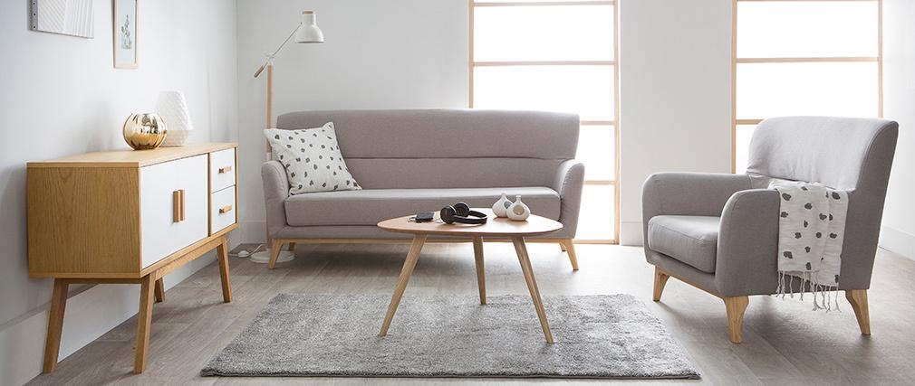 Canapé vintage 3 places gris clair MARKUS