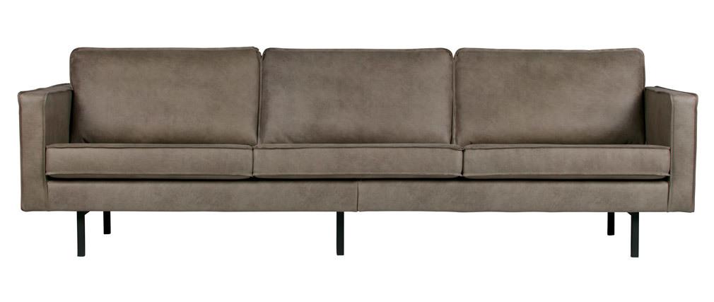 Canapé vintage 4 places gris ASPEN