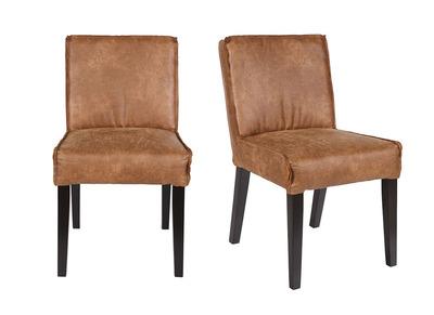 Chaise cuir vintage lot de 2 ASPEN