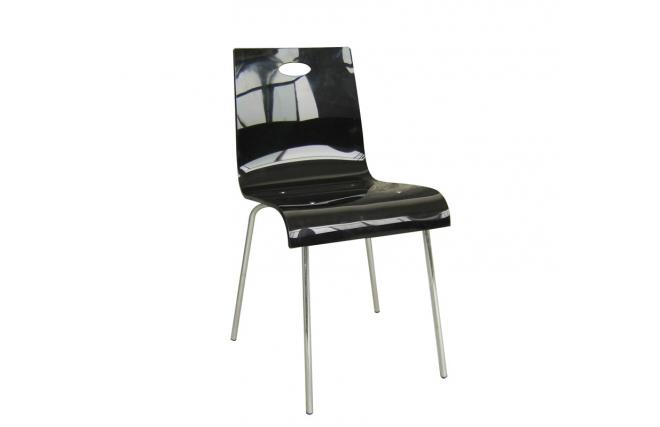 chaise cuisine salle manger cindy design noire miliboo. Black Bedroom Furniture Sets. Home Design Ideas