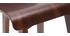 Chaise de bar bois foncé 65 cm BALTIK