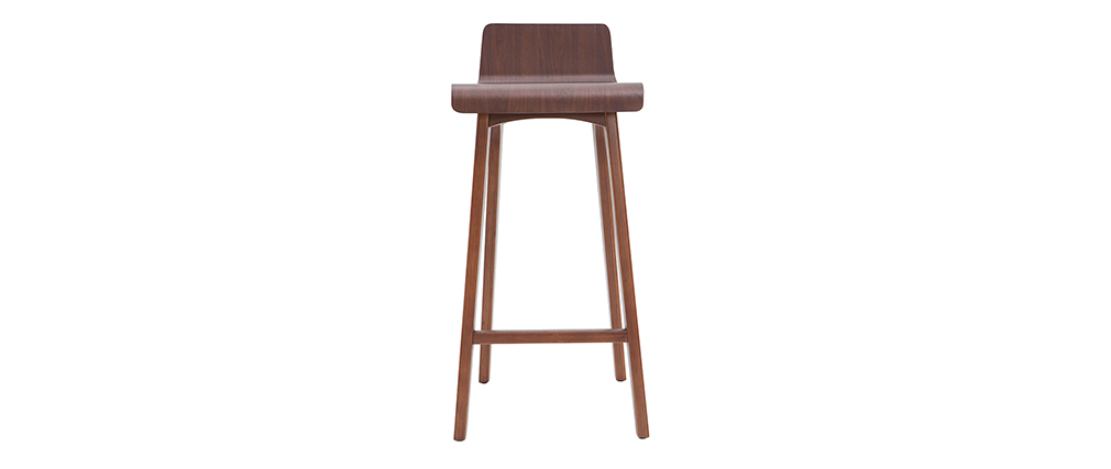 Chaise de bar bois foncé 75 cm BALTIK