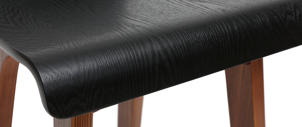 Chaise de bar noire 65 cm BALTIK