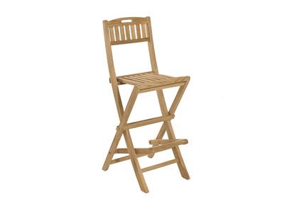 Chaise de bar pliante en teck ABACOS