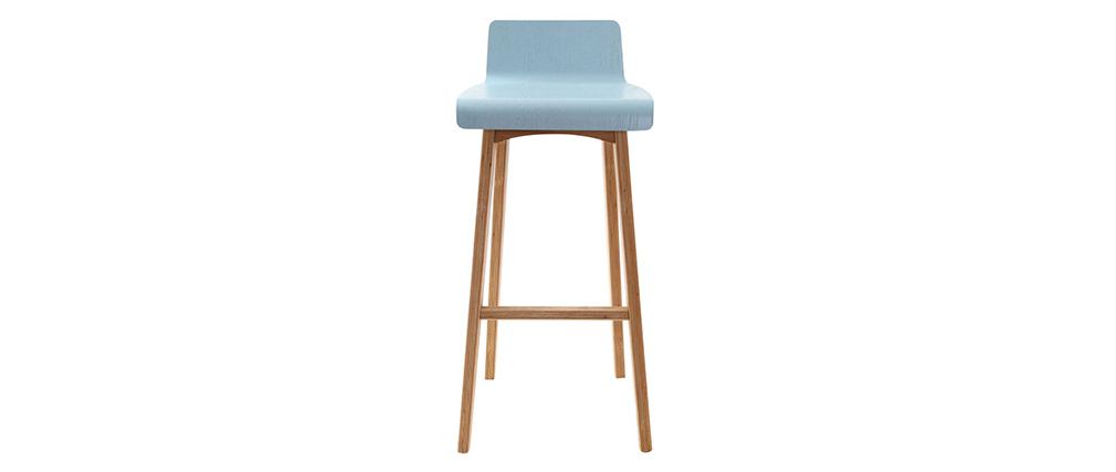 Chaise de bar scandinave 75 cm bleu BALTIK