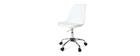 Chaise de bureau design blanche NEW STEEVY