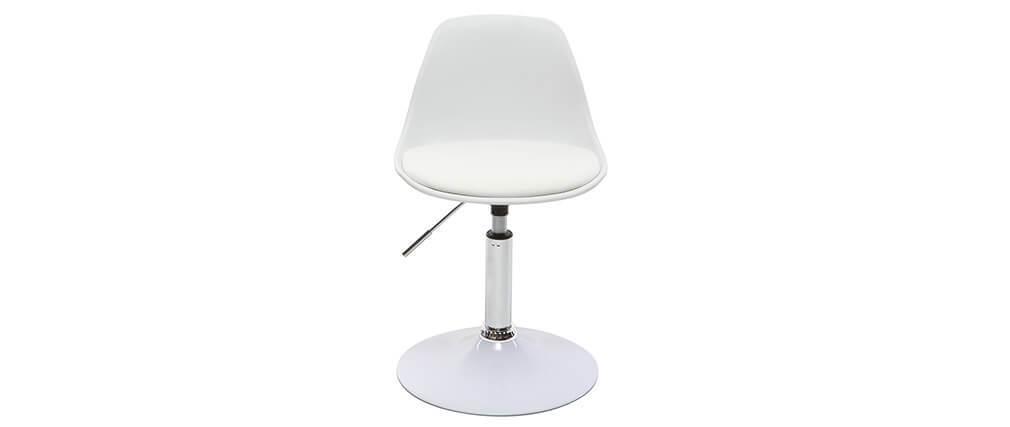 Chaise de bureau design enfant blanche STEEVY