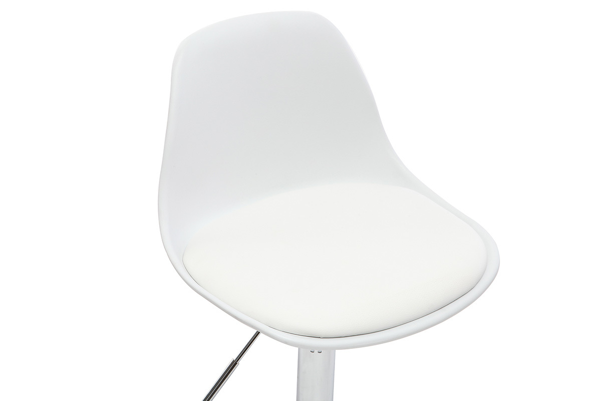 Chaise de bureau design enfant blanche STEEVY Miliboo