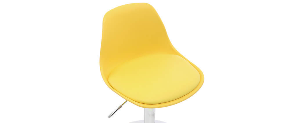 Chaise de bureau design enfant jaune STEEVY