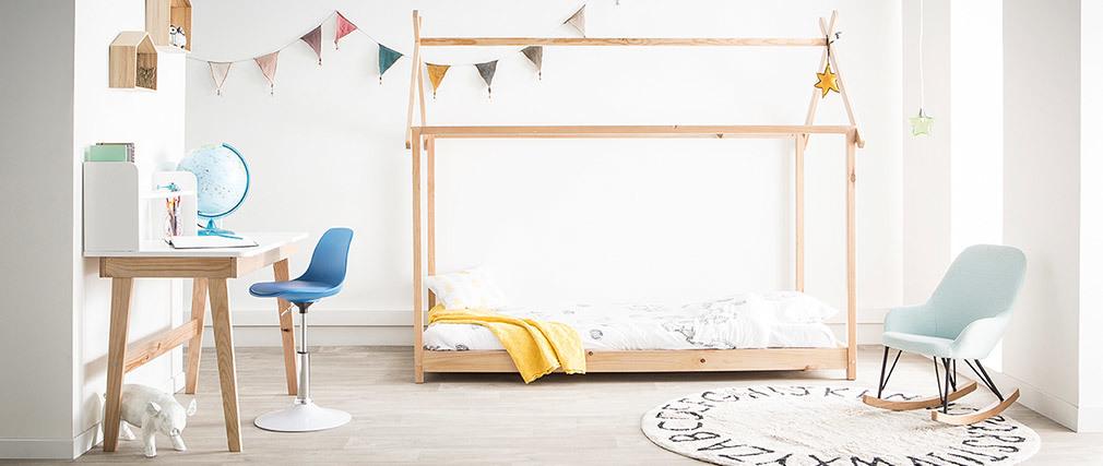 Chaise de bureau design enfant jaune STEEVY