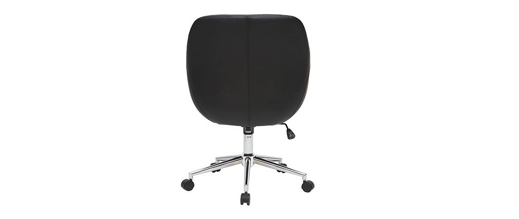Chaise de bureau design noire COLIN - Miliboo & Stéphane Plaza