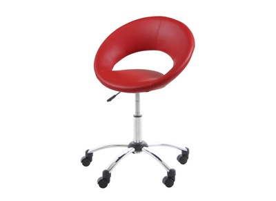 Chaise de bureau design rouge PINTO