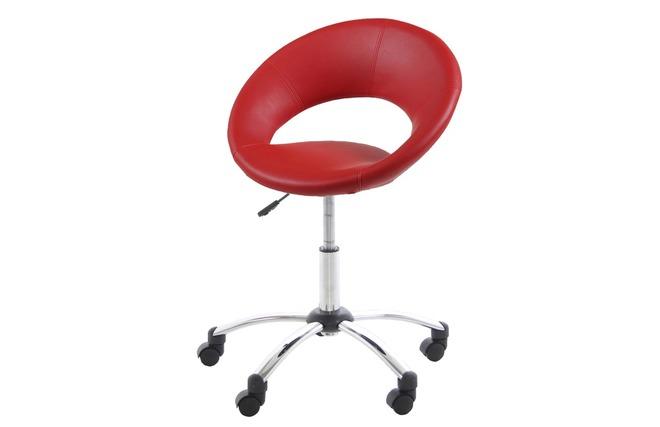 Chaise de bureau design rouge PINTO Miliboo