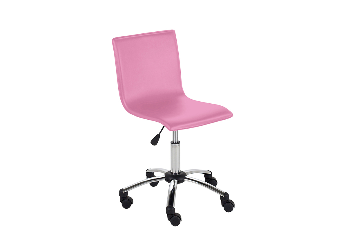 Chaise de bureau rose ikea for Chaise qui roule