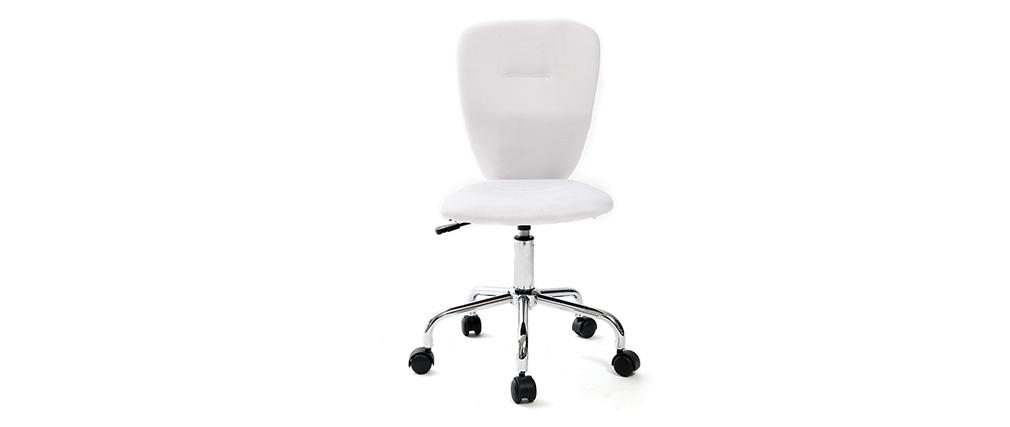 Chaise de bureau enfant blanc  LIZZY