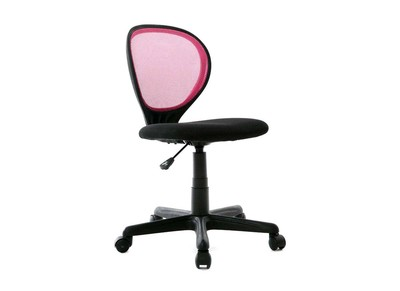 Chaise de bureau enfant rose et noire LEA