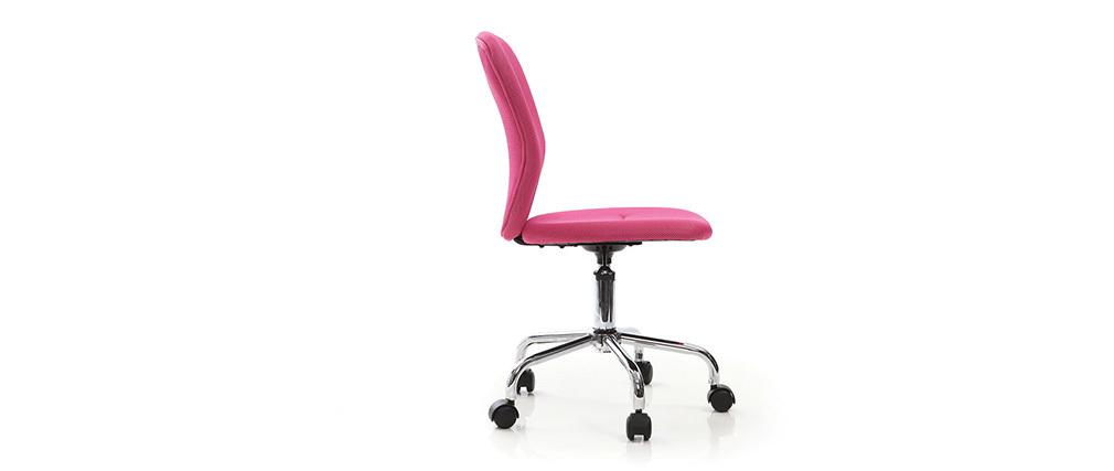 chaise de bureau enfant rose lizzy miliboo. Black Bedroom Furniture Sets. Home Design Ideas