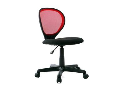 Chaise de bureau enfant rouge et noire LEA