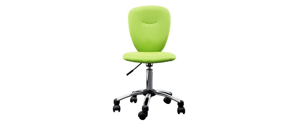 Chaise de bureau enfant vert anis LIZZY