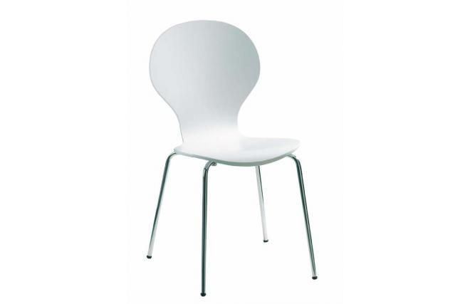 Chaise De Cuisine Salle Manger Design En Bois Blanc