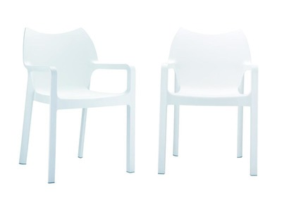 Chaise de jardin design blanc lot de 2  ALTESS