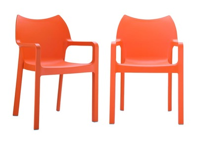 Chaise de jardin design orange lot de 2  ALTESS