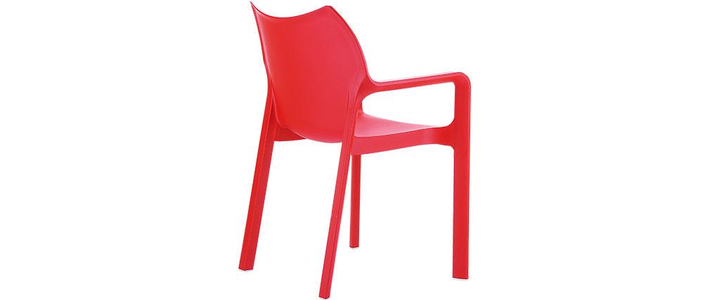 Chaise de jardin design rouge lot de 2 ALTESS - Miliboo