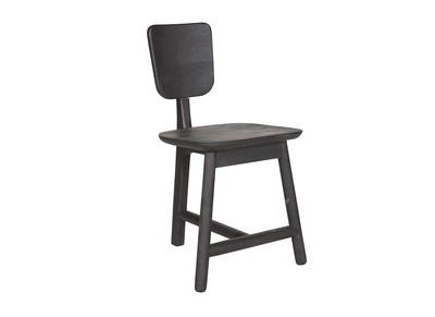 Chaise design 3 pieds bois noir TREFLE